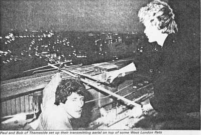 Thameside Radio 90.2 Alternative picture of Paul and Bob on top of a tower block with a link aerial