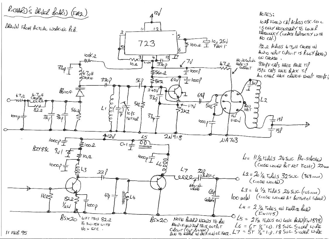 Thameside's FM2 exciter board circuit